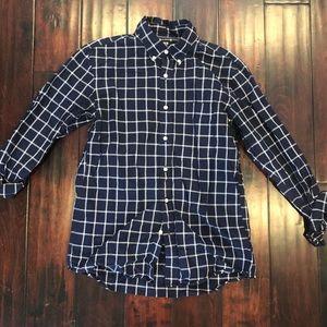 Men's Uniqlo checkered dress shirt (S)